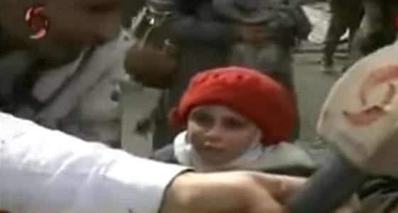 """بالفيديو.. طفلة سورية من نازحي الغوطة: """" ما بدي بشار """""""