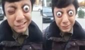 بالفيديو.. شاب يبرز عينيه من مقلتيهما بطريقة مرعبة