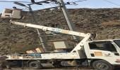 """"""" كهرباء مكة """" تطالب بلدية غميقة بإزالة مصابيح الإنارة من أعمدتها"""