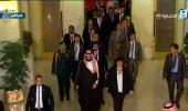 بالصور.. الرئيس المصري يستقبل ولي العهد بدار الأوبرا