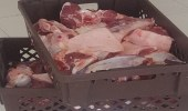 بالصور.. إغلاق ملحمة مخالفة للاشتراطات الصحية في نجران