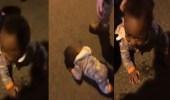 بالفيديو.. طفل يزحف بمفرده بشوارع نيويورك ليلا