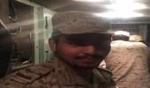"""صورة للبطل """" فيصل عسيري """" الذي تصدى لصواريخ الحوثي"""