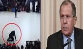 بالفيديو..لحظة سقوط وزير الخارجية الروسي على الأرض