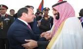 ولى العهد والسيسي يتفقان على مواصلة العمل للتصدي للتدخلات الإقليمية
