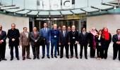 """بالصور.. الوفد الإعلامي المرافق لتغطية زيارة ولي العهد يزور شبكة """" bbc """""""