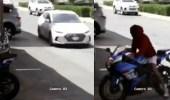 بالفيديو.. لحظة سرقة لص لدباب أمام منزل بجدة