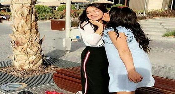 قبلات خجولة لـ ديما الجندي واسيل عمران