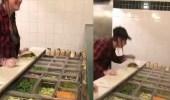 بالفيديو.. موظفة تبصق في طعام الزبائن قبل رميه في وجههم