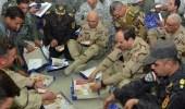 السيسي يتناول الإفطار مع القوات الجوية على الأرض