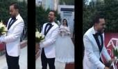 بالفيديو..ضحك هستيري لعريس لحظة رؤية عروسته