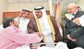 بالصور.. السفير المصري يشيد بالخدمات الطبية المقدمة للمصابين إثر سقوط شظايا