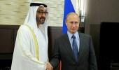 بوتين يبحث مع محمد بن زايد التعاون لاستقرار الشرق الأوسط
