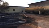 """مدني طبرجل يسيطر على حريق خزان وقود """" ديزل """""""