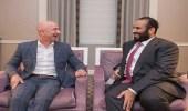 سمو ولي العهد يلتقي رئيس شركة أمازون