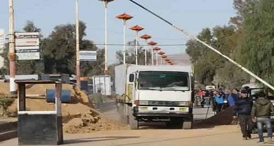 عشرات الشاحنات من القافلة الإغاثية تدخل الغوطة الشرقية