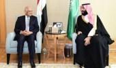 ولي العهد يلتقي رئيس النواب المصري بمقر إقامته بالقاهرة