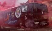 بالصور.. جماهير ليفربول تعتدي على حافلة مانشستر سيتي قبل اللقاء