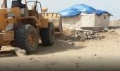 بالصور.. أمانة جدة تزيل 645 خيمة عشوائية وتصادر 150 بسطة