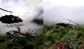 بالفيديو.. هليكوبتر تقطع شخصا ذهبت لانقاذه