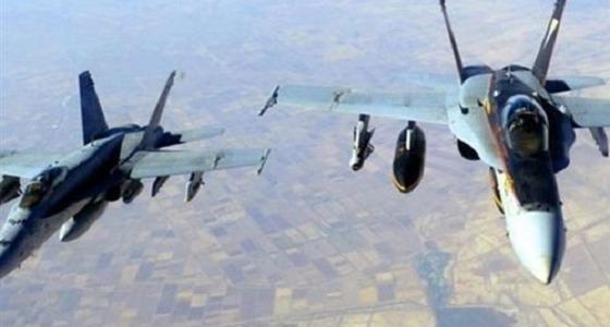 """التحالف العربي يقصف مبنى """" الداخلية """" المتمركز فيه الحوثيين بصنعاء"""