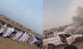 بالفيديو.. حادث مروع لسيارة انقلبت بسبب التفحيط