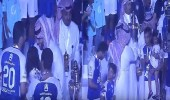 """بالفيديو.. الشلهوب وابنته يحتفلان بالدوري مع """" آل الشيخ """""""