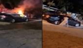 سيدة تضرم النيران في سيارة زوجها الخائن