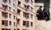 بالفيديو.. سقوط مسنة من شرفة شقة في الطابق الثالث بالصين