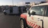 مصرع وإصابة 10 أشخاص في حادث تصادم بخميس مشيط