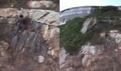 بالفيديو.. نهاية مأساوية لشاب حاول استعراض مهارته في تسلق الصخور