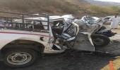 مصرع وإصابة 6 أشخاص إثر تصادم مركبتين برجال ألمع