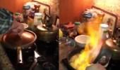 بالفيديو.. نهاية مروعة لرجل حاول إثارة إعجاب زوجته بالطهي