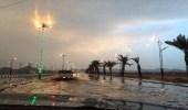 بالصور.. محافظة يدمة تشهد هطول أمطار غزيرة