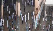 بالفيديو.. فرحة طلاب مدرسة بأمطار الرياض