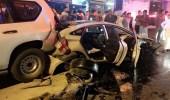 بالصور..4 إصابات في حادث تصادم بالطائف