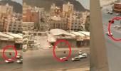 بالفيديو.. مطاردة مثيرة كادت تنهي حياة شاب في مكة