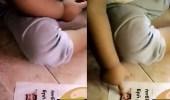 بالفيديو.. رد فعل مؤثر لطفلة شاهدت صورة ولي العهد