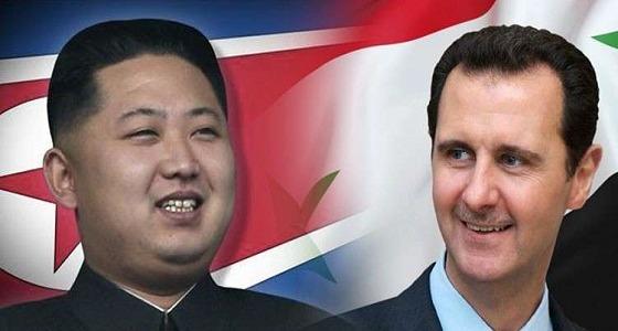 """رغم صمتها.. """" الأسد """" يبعث إكليل زهور إلى كوريا الشمالية"""