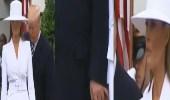 بالفيديو.. في حضرة ماكرون.. ترامب يحاول إمساك يد زوجته فتتجاهله