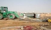 أمانة الرياض تبدأ حملة تنظيف المدخل الغربي بإزالة أكثر من 700 عنصر