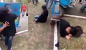 بالفيديو.. اعتداء وحشي على فتاة لرؤيتها برفقة شاب مسلم