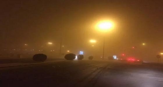 موجة غبارية تعيق الرؤية في الرياض