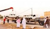بالصور.. إزالة 342 سيارة تالفة من شوارع خميس مشيط
