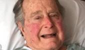 """"""" بوش """" الأب يصاب بوعكة صحية بعد وفاة زوجته"""