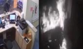 بالفيديو.. رجل يضرم النار في مستشفى تأخر عن تقديم رعاية طبية لابنه