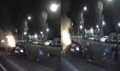 بالفيديو.. رجل شجاع ينقذ سائقا من حريق سيارته