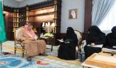 أمير الباحة يستقبل رئيسة لجنة سيدات الأعمال بالغرفة التجارية