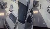 """بالفيديو.. كاميرا مراقبة توثق سرقة لص لـ """" تاهو """" بالرياض"""