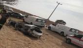 بالصور.. وفاة 9 أشخاص إثر وقوع حادث تصادم بالدلم